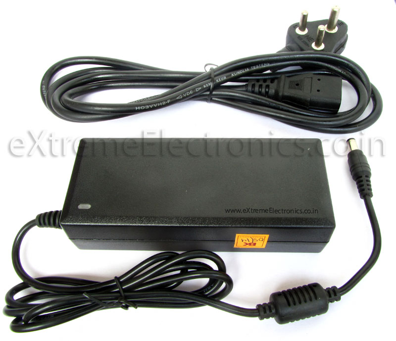 Buy 12V DC Adapter with 5A Max current supply low cost in India.