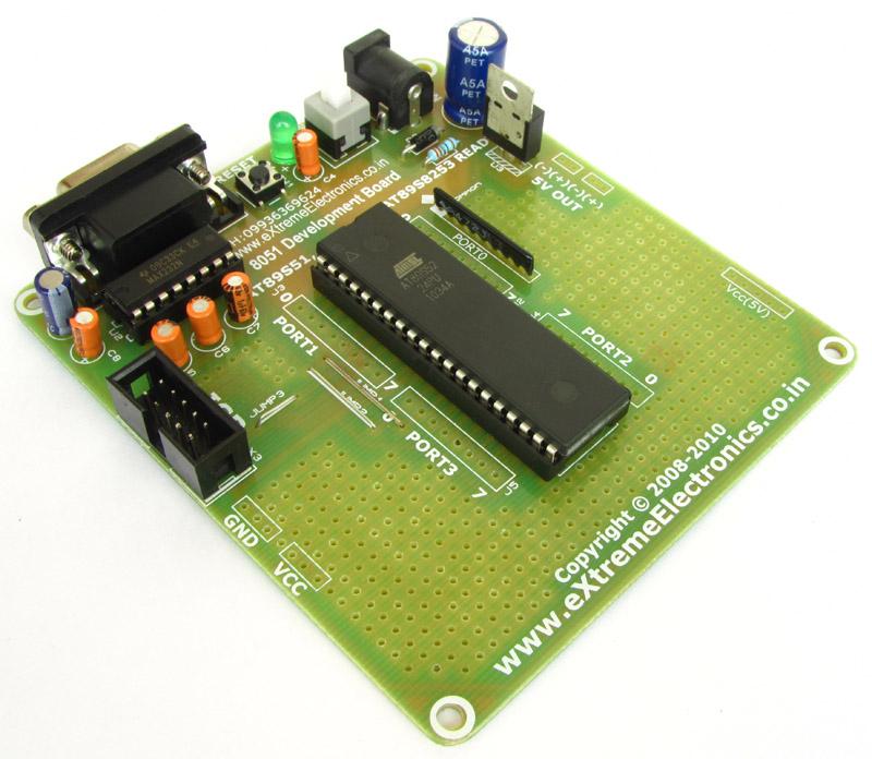 easy 8051 development kit development boards extreme electronics