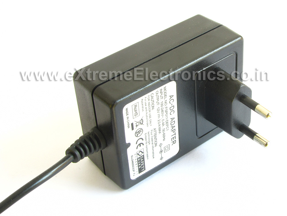 Buy 12V 2A DC SMPS Adapter online in India lowest cost with COD cash ...