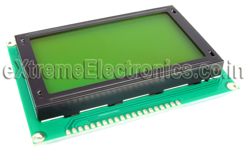 Buy GLCD (Graphic LCD) 128x64 pixels KS0108 based lowest price in India