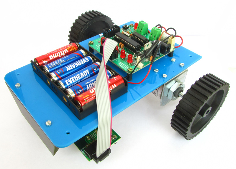 Line Following Robot using microcontroller atmega8