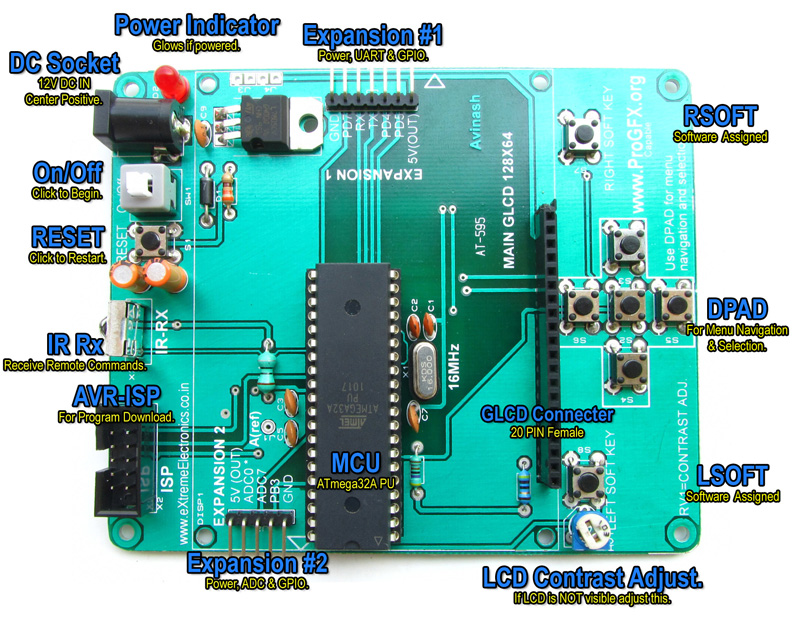 graphic lcd board atmega32