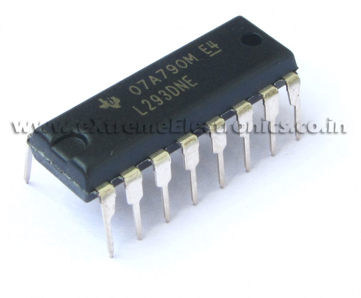 buy 600ma motor driver ic l293d for robotics projects avr