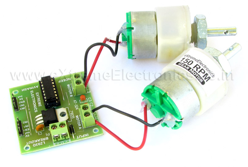 Buy 600ma motor driver ic l293d circuit for robotics for Dc motor driver ic