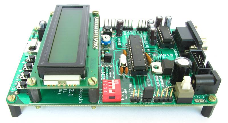 AVR Development Board for ATmega8/ATmega328 with LCD & RTC