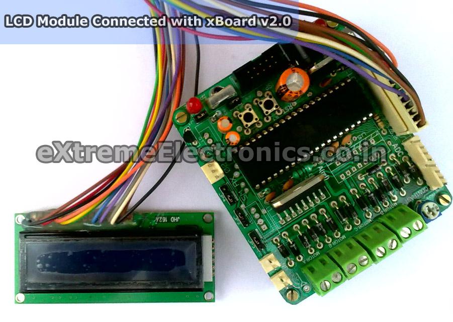 AVR Development Board for ATmega16/ATmega32 with LCD & Motor