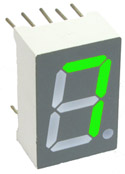 Seven Segment Display CA Green