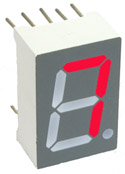 Seven Segment Display CC Red