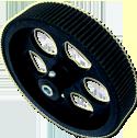 Plastic Wheel - 10.5cm x 2.1cm