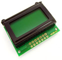 8x2 Character LCD Module Green Backlight