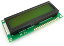 16x2 Character LCD Module Green Backlight