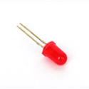 LED Defused 5mm Round Red (Pack Of 10)
