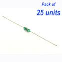 25 x Resistor (MFR) 82R 1/4w