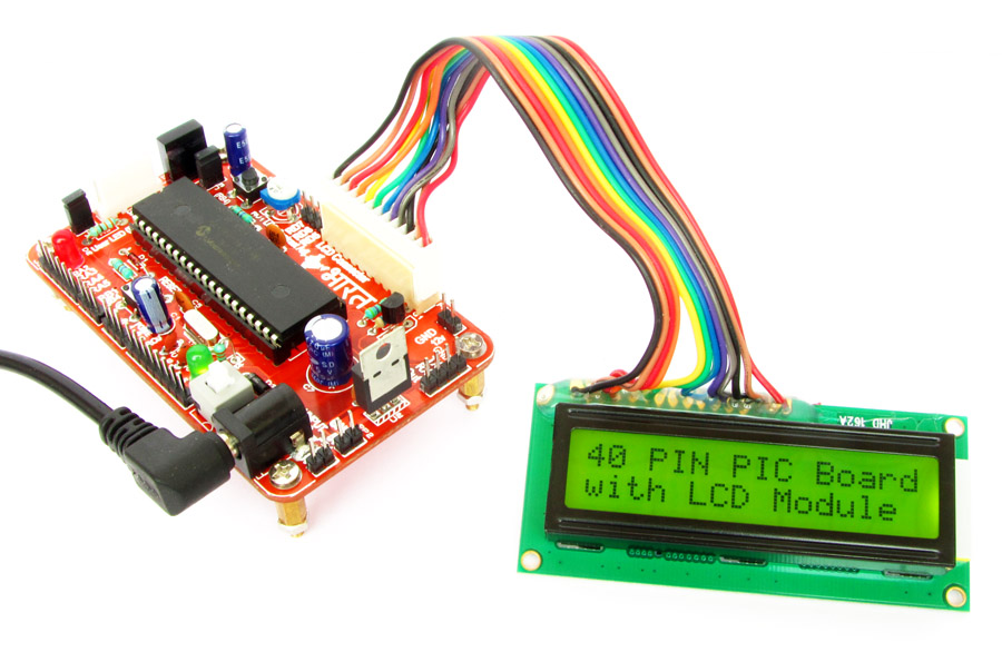 PIC18F458 LCD Interface