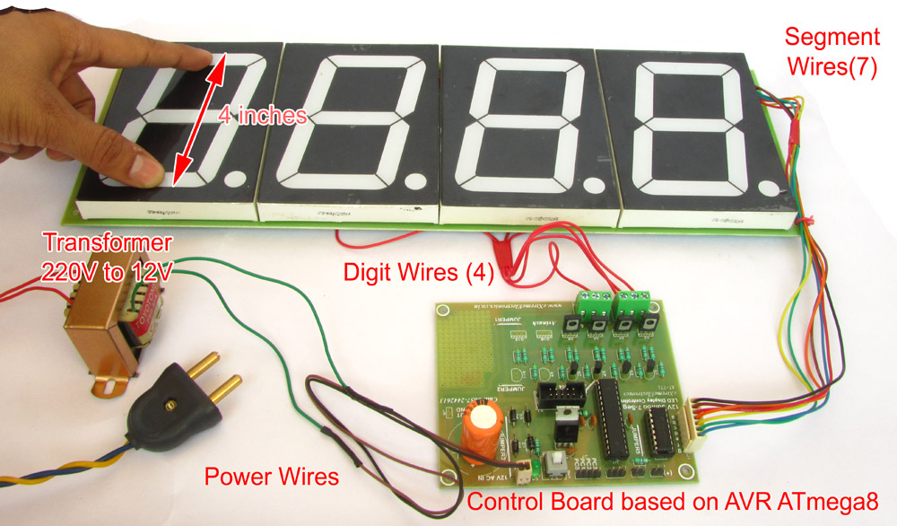 4 inch 4 digit LED display