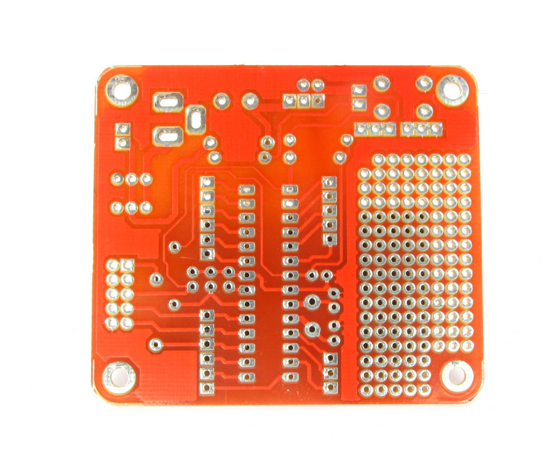 atmega8 development board PCB back view