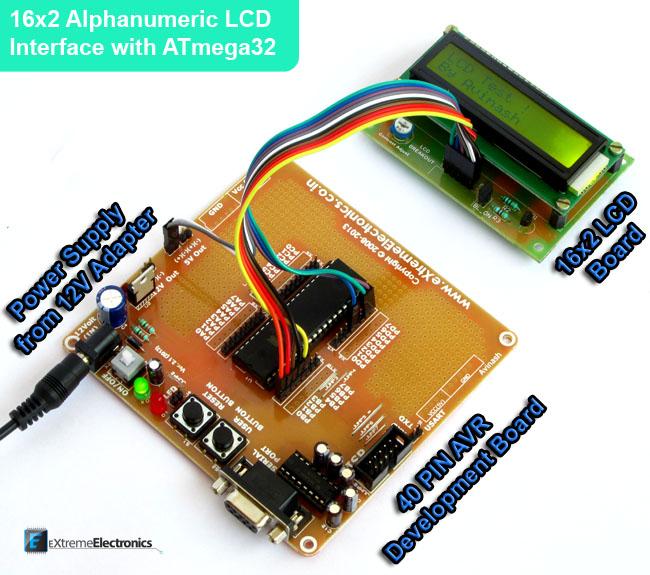 AVR ATmega16 LCD Interface