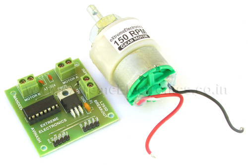 motor interface with 28 pin dev board