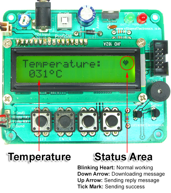 remote temperature monitor main screen