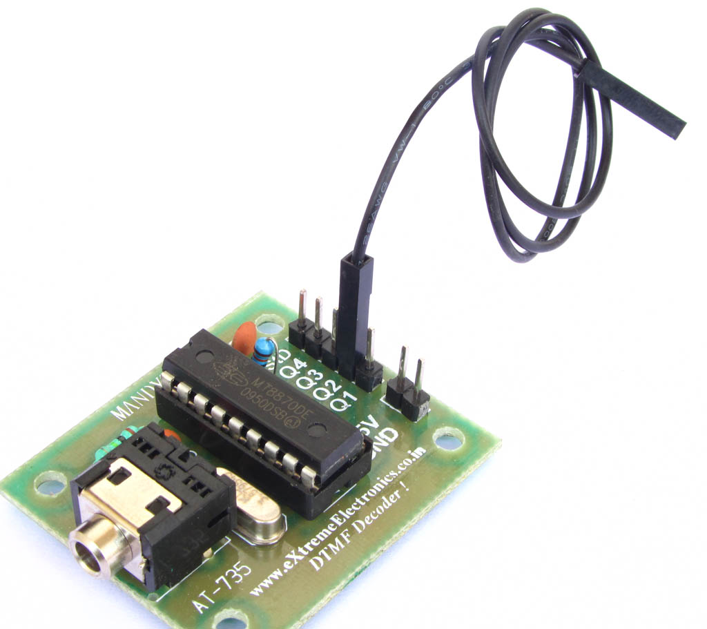 Buy Dtmf Decoder Module Online Low Cost In India Touch Tone Decoding Based On A Mt8870 Connect Using Single Pin Female Wire